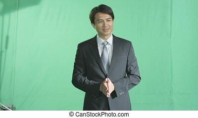 a businessman in presentation