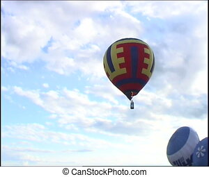 hot air balloon in the sky - russian hot air balloon sport...