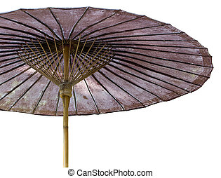 Umbrella isolated on white with clipping path
