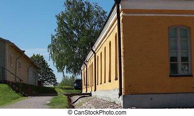 house and barn - Lappeenranta, Finland May 30, 2015 rural...