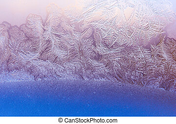 Textured icy background - Abstract ice pattern on winter...