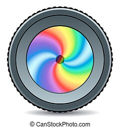 Lens - Illustration of the abstract camera lens icon