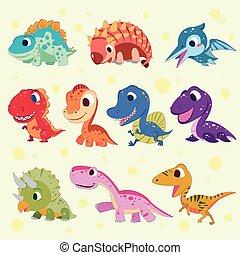 cartoon dinosaur collections - adorable cartoon dinosaur...