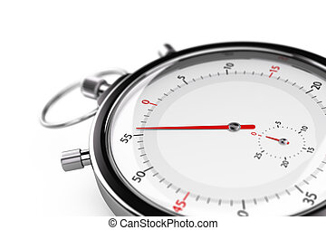 Stopwatch, Less than one minute - Stopwatch with the needle...