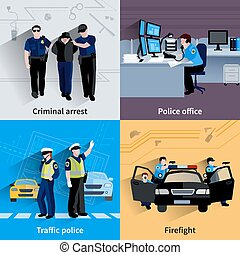 Policeman People 2x2 Design Compositions - Policeman people...