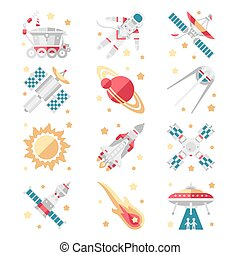 Space Icons Vector Set