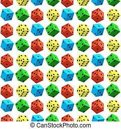 Dice pattern - Seamless pattern of the varicoloured dice...