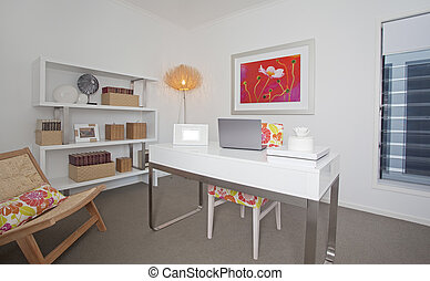 Home Office in modern townhouse