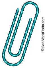 Paperclip - Illustration of the abstract paperclip icon