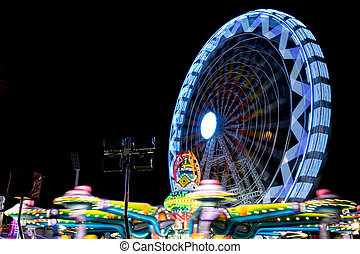 Fair ferris wheel at night