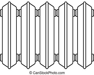 Radiator - Illustration of the radiator elements as seamless...