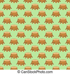 Stump pattern - Seamless pattern of the tree stumps