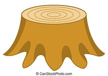 Stump - Illustration of the stump icon