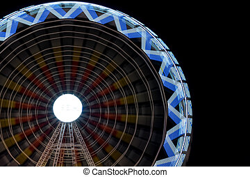 Fair ferris wheel at night - Long exposure photo of fair...