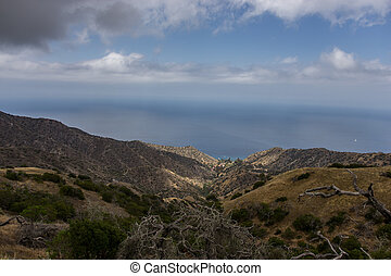 Santa Catalina Island Coastal View - Scenic view of the...