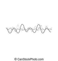 Vector music wave - Vector music sound wave. Audio digital...