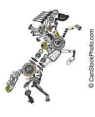 Many images of spare parts - Image of a collected from many...