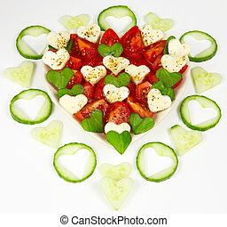 hearted salad