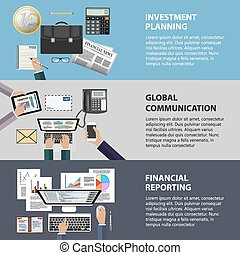 Communication, investment and reporting concept - Modern...