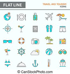 Modern simple line icons - Set of modern simple line icons...