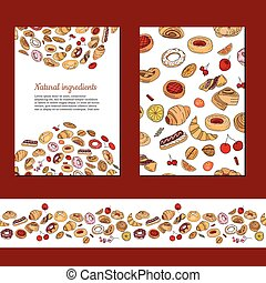 Template with different pastry