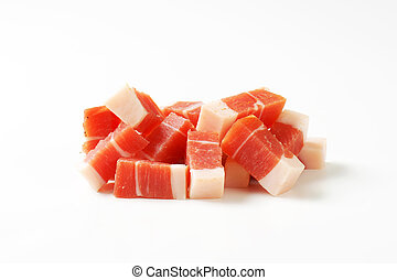 Diced Tyrolean speck - Diced Italian speck from South Tyrol
