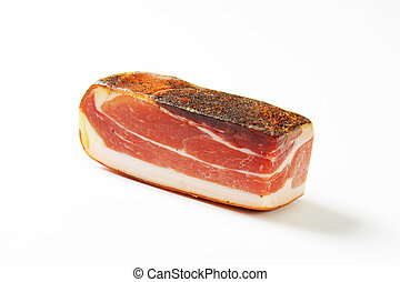 South Tyrolean speck - Dry-cured, lightly smoked Italian ham...