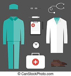 Complete set of medical clothes - Complete Set of Medical...