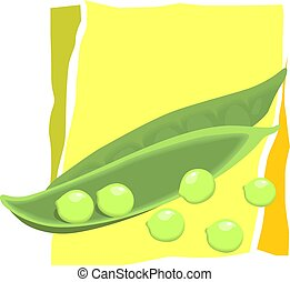 pair of beans and seeds - Illustration of a pair of beans...