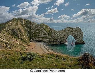 Durdle Door Dorset - Durdle Door, a limestone arch on the...