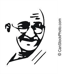 Mahatma Gandhi - mahatma gandhi image black and white in che...