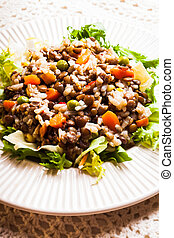 Salad with lentils