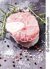 Cross cut veal shank - Raw fresh slice of meat - cross cut...