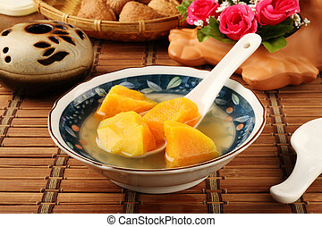 Chinese sweet potato soup - Bowl of sweet potato soup.