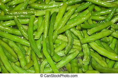 Green bean broiling in olive oil