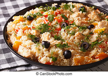 Arabic cuisine: couscous with chicken and vegetables...