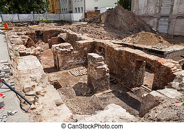 Excavations, Frankfurt Oder - Excavations in Frankfurt Oder,...