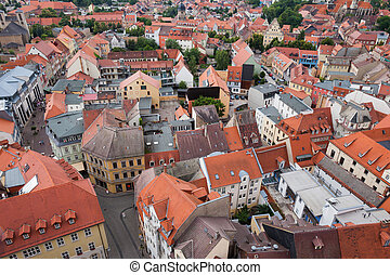 View over Naumburg Saale - View over the old town of...