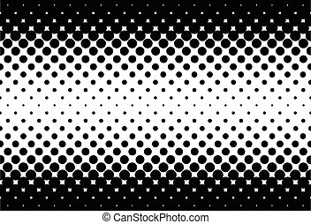 Black Holes Background - A half tone image with black dots...