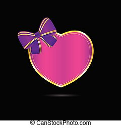 heart vector love in pink