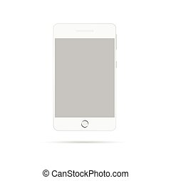 mobile phone vector in white color