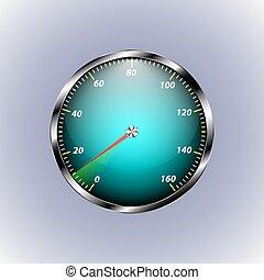 Speedometer shows ten speed