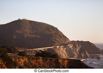 Bixby Creek Bridge, Big Sur, Monterey County, California,...