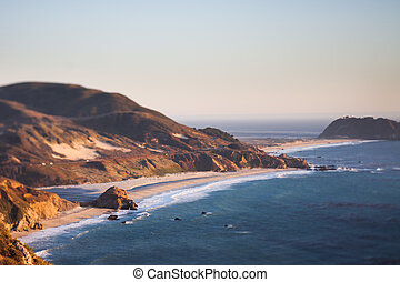 Beach at Point Sur, CA - View over the beach at Point Sur,...