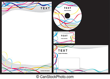 Business package with business card, letterhead, envelope...