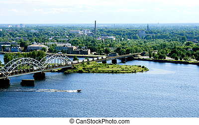 Panorama view of Riga, capital of Latvia