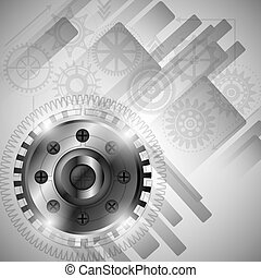 gear wheel design, vector illustration eps10 graphic