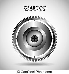 gear wheel design - gear wheel design, vector illustration...