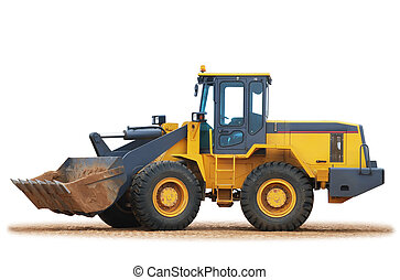 wheel loader bulldozer - Excavator wheel Loader working on...