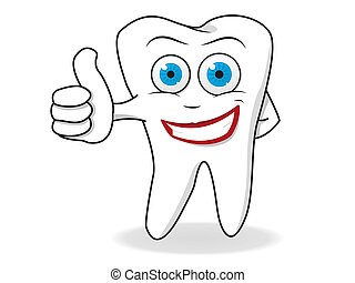 Tooth Character Vector - Happy Tooth Character Vector....